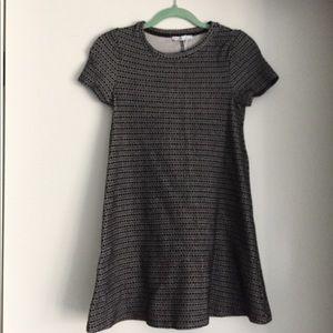Zara Black Patterned Mini Dress